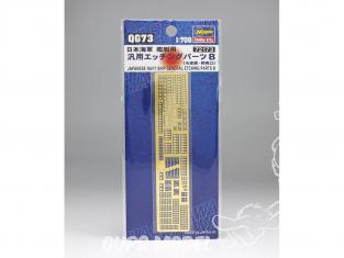 Hasegawa amelioration bateau 72173 set de photodecoupe pour tous bateaux japonais set B 1/700