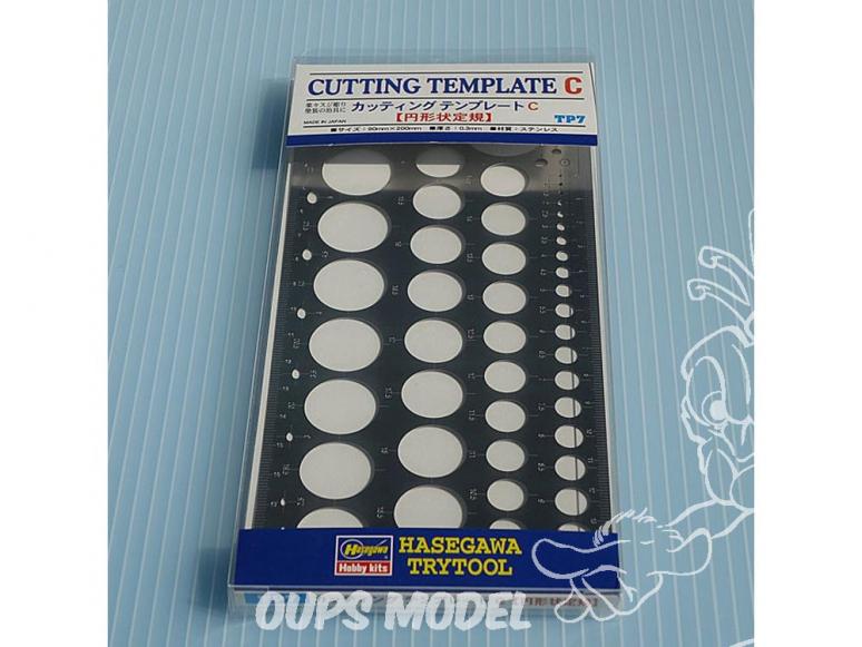 Hasegawa outillage TP7 Gabarit de découpe et de gravure en métal pour ronds