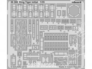 Eduard photodecoupe militaire 36386 King Tiger Initial Takom 1/35