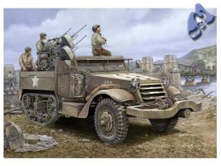 TRUMPETER maquette militaire 00911 US M16 HALF-TRACK ANTI AERIEN 1/16