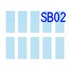 Oups SB02 10 Papiers abrasifs pour Set de maintenance pour Cutter à Ultrasons