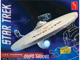 Amt maquette film 1080 Star Trek U.S.S. Enterprise Refit 1/537
