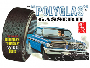 AMT maquette voiture 1092 Pontiac Catalina Polyglas Gasser II 1962 1/25