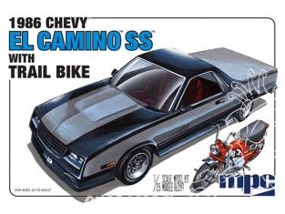 MPC maquette voiture 888 Chevy El Camino et Dirt Bike 1986 1/25