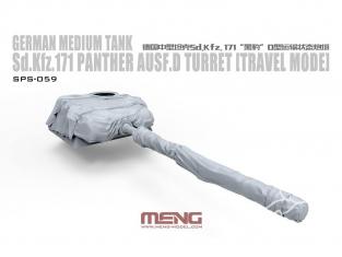 Meng maquette voiture SPS-059 Tourelle pour Sd.Kfz.171 Panther Ausf.D mode de voyage 1/35