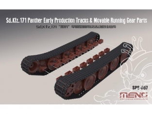 Meng maquette voiture SPS-057 Chenilles pour Sd.Kfz.171 Panther early 1/35