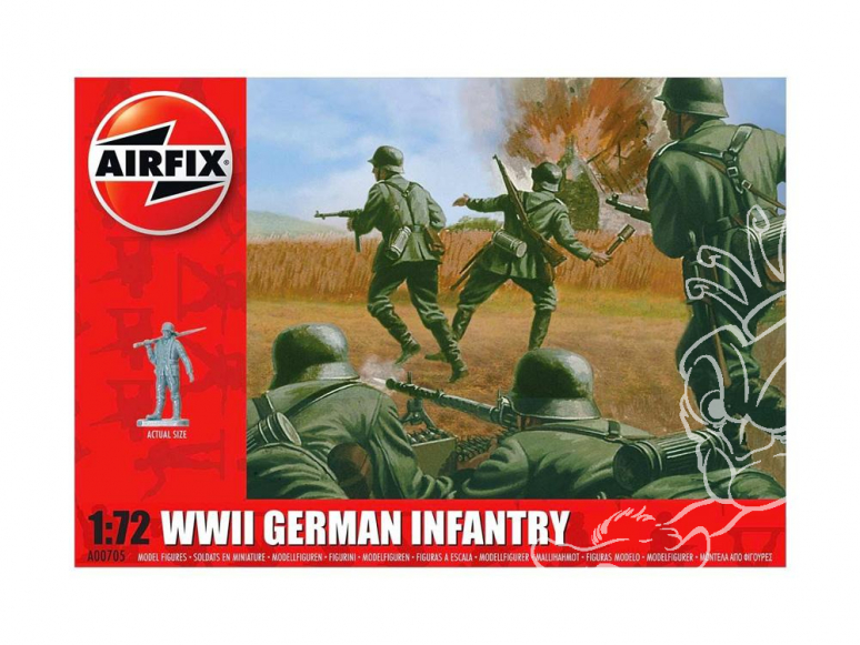 Airfix maquette militaire 01705 WWII German Infantry 1/72