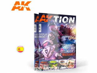 Ak interactive Magazine Aktion AK6301 N°1 Decors - Astuces et Methodes pour Wargame en Espagnol