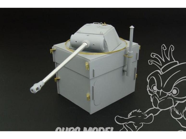 Hauler kit resine HLS48005 Pantherturm I pied en acier 1/72