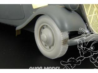 Hauler Kit d'amelioration HLU35020 Roues pour Citroen traction 11CV pour Kit Tamiya 1/35