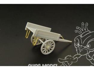 Hauler accessoire diorama HLH72041 Chariot a main imitation bois 1/72