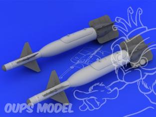 EDUARD Brassin super detaillage 632013 Bombe GBU-24 pour F-117 1/32