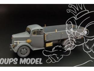 Hauler kit d'amélioration HLX48366 Opel Blitz pour kit Tamiya 1/48