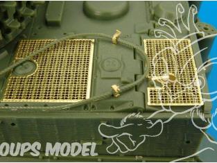 Hauler kit d'amélioration HLX48031 Tigre I late grilles SKYBOW pour kit Tamiya 1/48