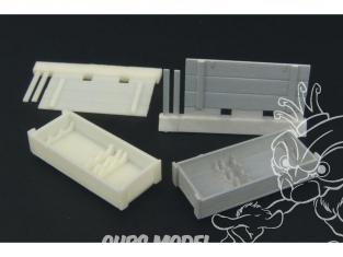 Hauler accessoire diorama HLX48120 boîtes de munitions pour TIGER I en resine tous kits 1/48