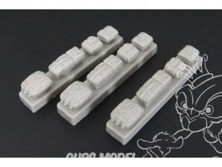 Hauler accessoire diorama HLX48196 sacs à dos et sacs allemands en resine 1/48