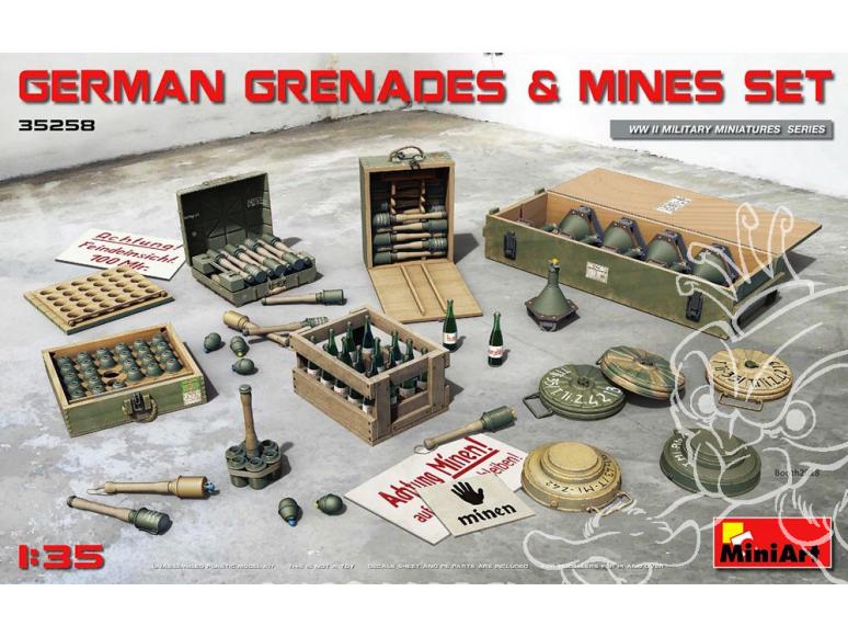 Mini Art maquette militaire 35258 GRENADES ET MINES ALLEMANDES 1/35