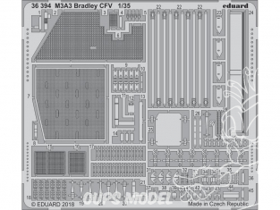 Eduard photodecoupe militaire 36394 M3A3 Bradley CFV Kinetic 1/35
