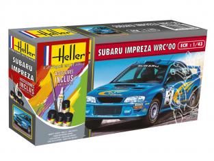 Heller maquette voiture 56194 Citroen DS19 Inclus peintures principale colle et pinceau 1/43