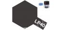 Peinture laque couleur Tamiya LP-40 Noir métal brillant 10ml