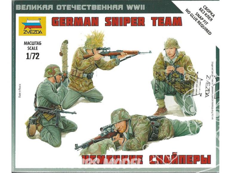 Zvezda maquette militaire 6217 equipe de Sniper Allemand 1/72