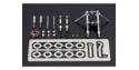 TAMIYA kit amelioration 12632 Fourche en métal Honda RC166 1/12