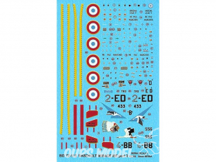 BERNA DECALS BD72-115 Dassault Mirage IIIE Part 2 1/72
