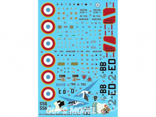 BERNA DECALS BD32-54 Dassault Mirage IIIE Part 2 1/32