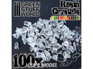 Green Stuff  500363 Cristaux de résine transparents colorables