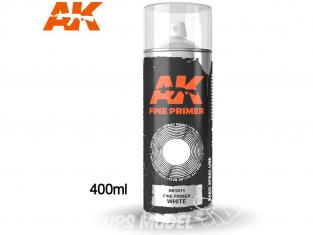Ak Spray AK1011 Bombe d'appret fin blanc 400ml Fine Primer