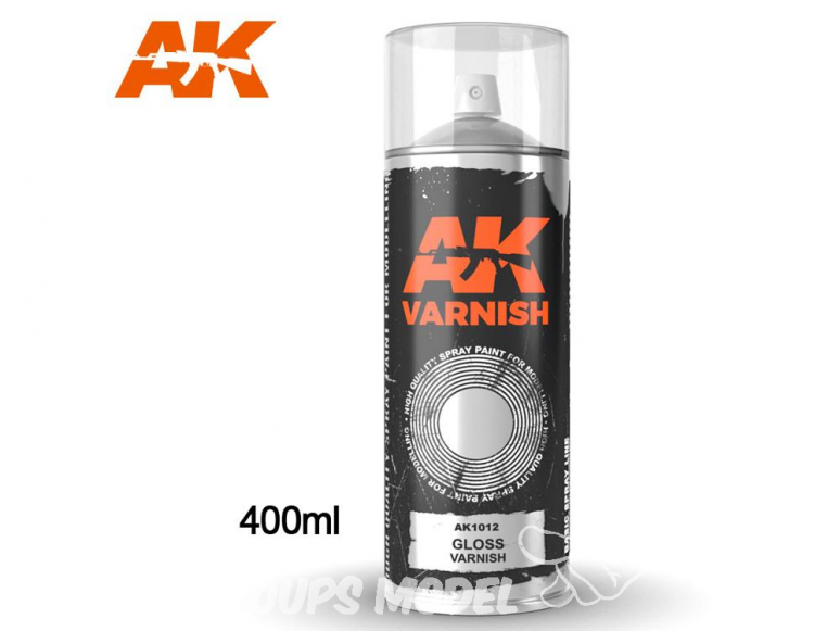 Ak Spray AK1012 Bombe de vernis brillant 400ml