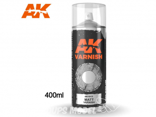 Ak Spray AK1013 Bombe de vernis mat 400ml