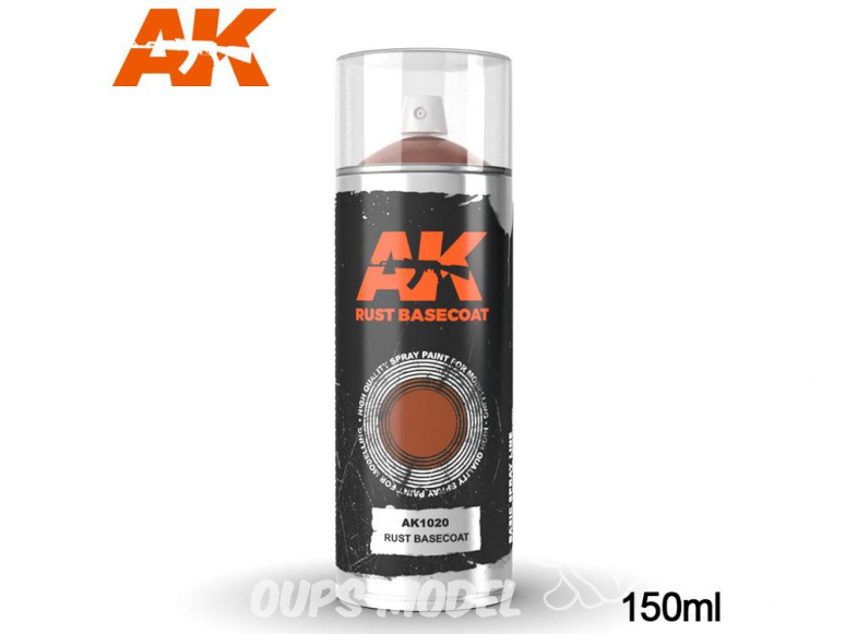 Ak Spray AK1020 Bombe d'appret rouille 150ml Rust basecoat