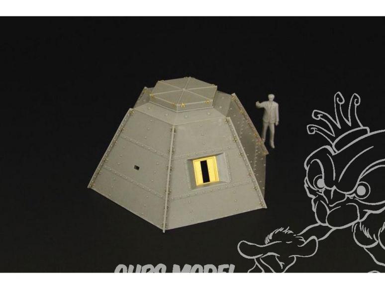 Hauler Accessoire diorama HLS48018 Casemate Japonaise en acier 1/48