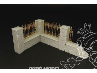 Hauler accessoires diorama HLU35106 Bout de Clôture de château 1/35