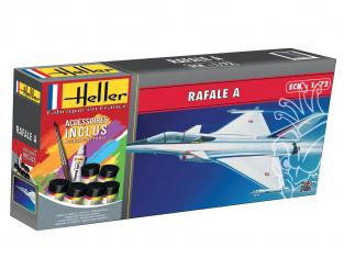 HELLER maquette avion 56320 RAFALE A inclus peintures principale colle et pinceau 1/72