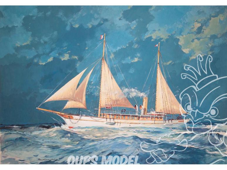 Heller maquette bateau 80612 la Fauvette 1/200