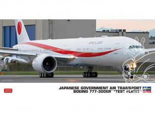 """Hasegawa maquette avion 10824 Boeing 777-300ER du gouvernement japonais """"Vol d'essai"""" 1/200"""