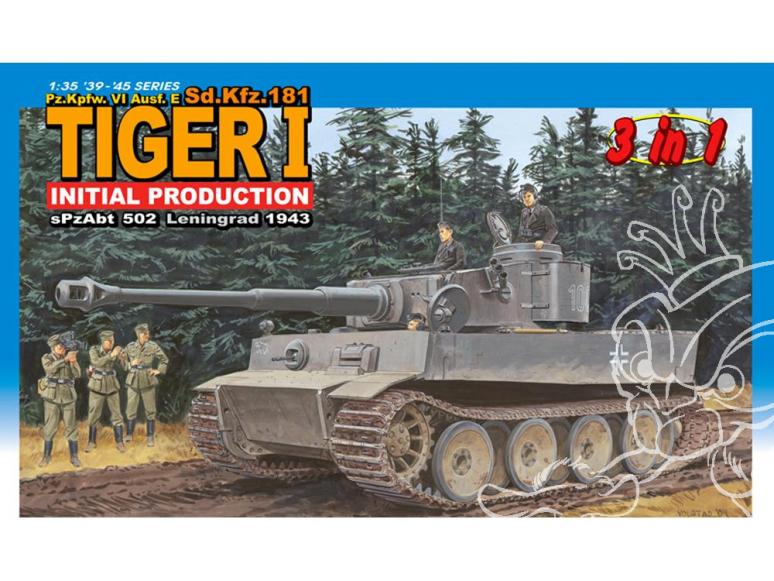 dragon maquette militaire 6252 tigre I 1/35