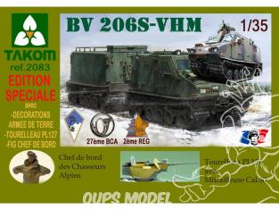 Takom maquette militaire 2083 BANDVAGN BV 206 S ARMÉE FRANÇAISE Chasseurs Alpins et 2e Régiment Étranger du Génie 1/35