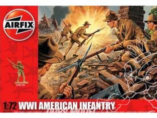 Airfix maquette militaire 01729 WWI US Infantry 1/76