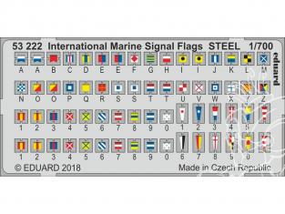 Eduard photodecoupe bateau 53222 Drapeaux de signaux maritimes internationaux 1/700