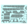 Meng maquette voiture SPS-060 Zimmerit en decalques pour Sd.Kfz.182 King Tiger tourelle porsche 1/35