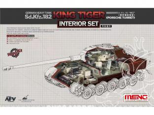 Meng maquette voiture SPS-062 Set d'interieur pour Sd.Kfz.182 King Tiger tourelle porsche 1/35