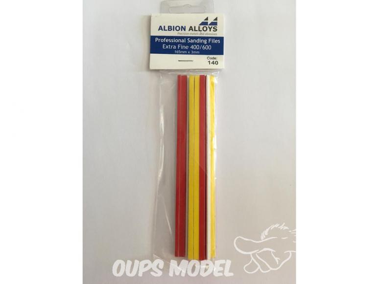 Alpha abrasives 140 10 limes grain extra fins 400 et 600 165x3mm