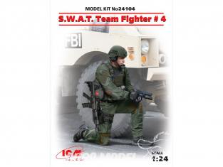 Icm maquette figurine 24104 S.W.A.T. Team Fighter №4 1/24