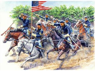 Master Box maquette militaire 3550 8TH PENNSYLVANIA CAVALRY REGIMENT Bataille de Chancellorsville 2 Mai 1863 1/35 ou 54m