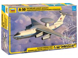 Zvezda maquette avion 7024 Avion de détection radar russe à longue portée Tupolev A-50 1/144