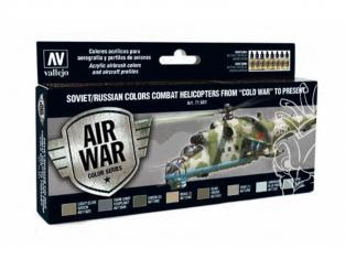 Vallejo Set Model Air 71601 Helicoptères de combat Soviétiques / Russes de la Guerre Froide à Aujourd'hui 8 x 17ml