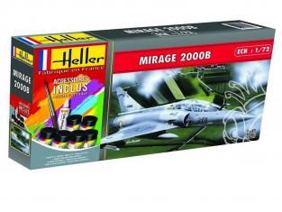 HELLER maquette avion 56322 Mirage 2000 B inclus peintures principale colle et pinceau 1/72